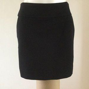 WHBM black knit mini skirt 8